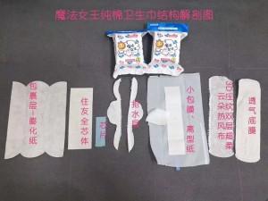卫生巾的结构组成